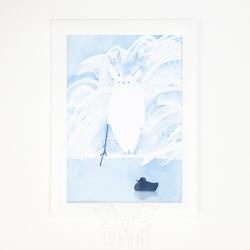 Білий туконі і качечка